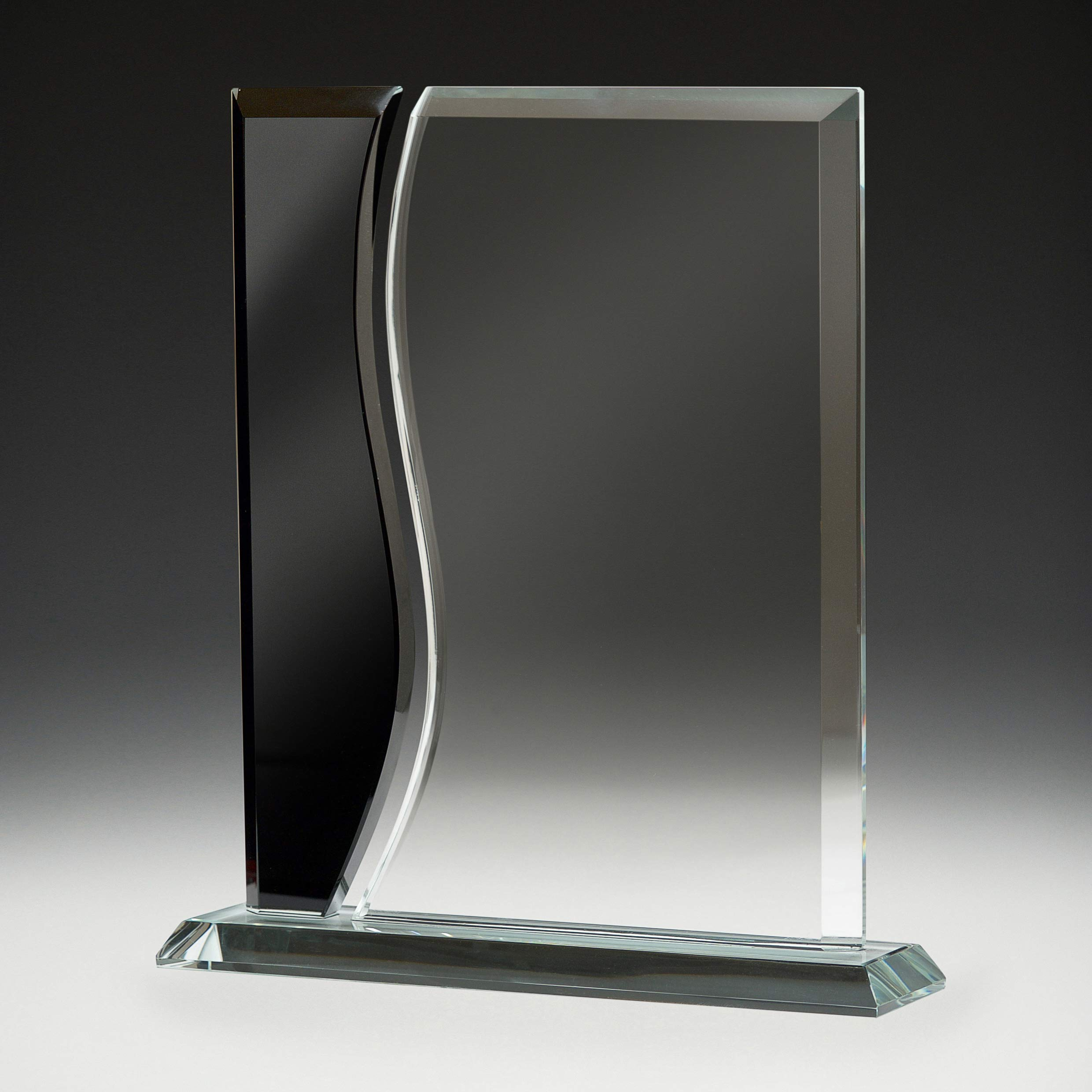 Clear and Black Glass Wave