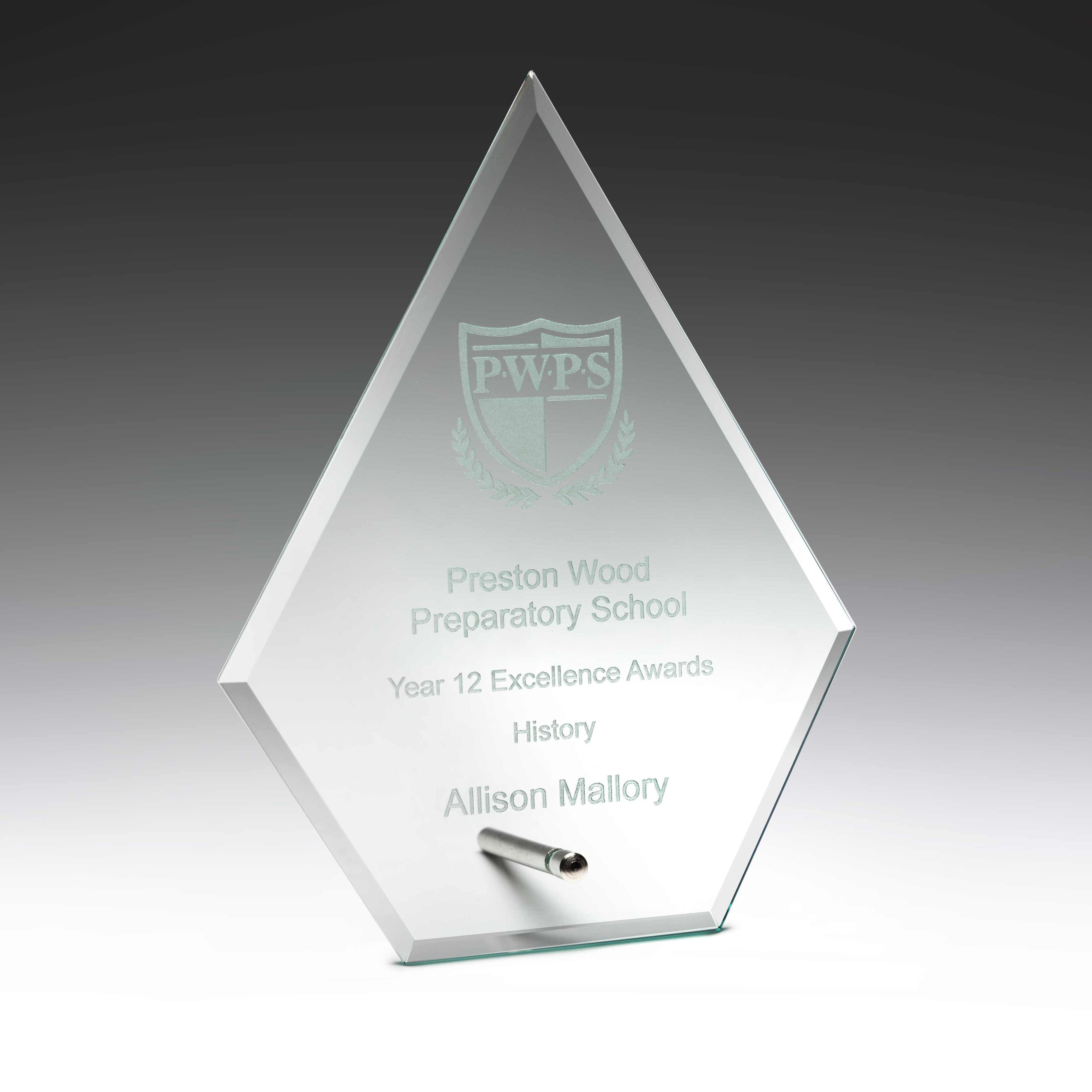Glass Arrow Plaque