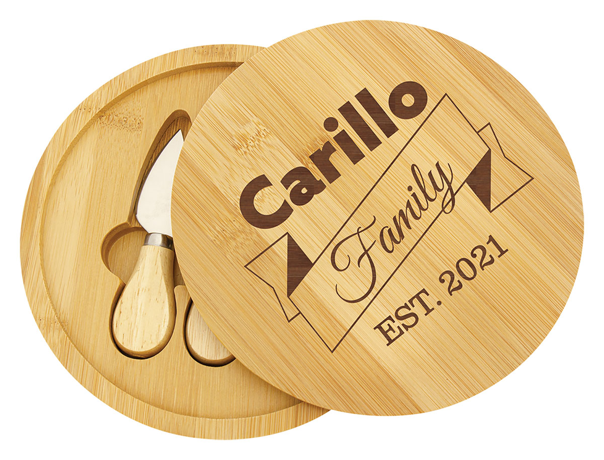 Bamboo Cheese Gift Set with Tools