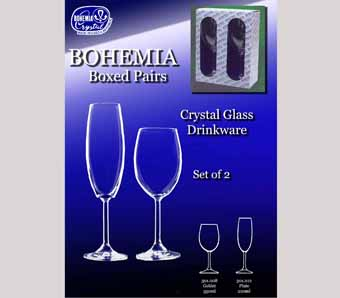 Bohemia Crystal Glass Pairs