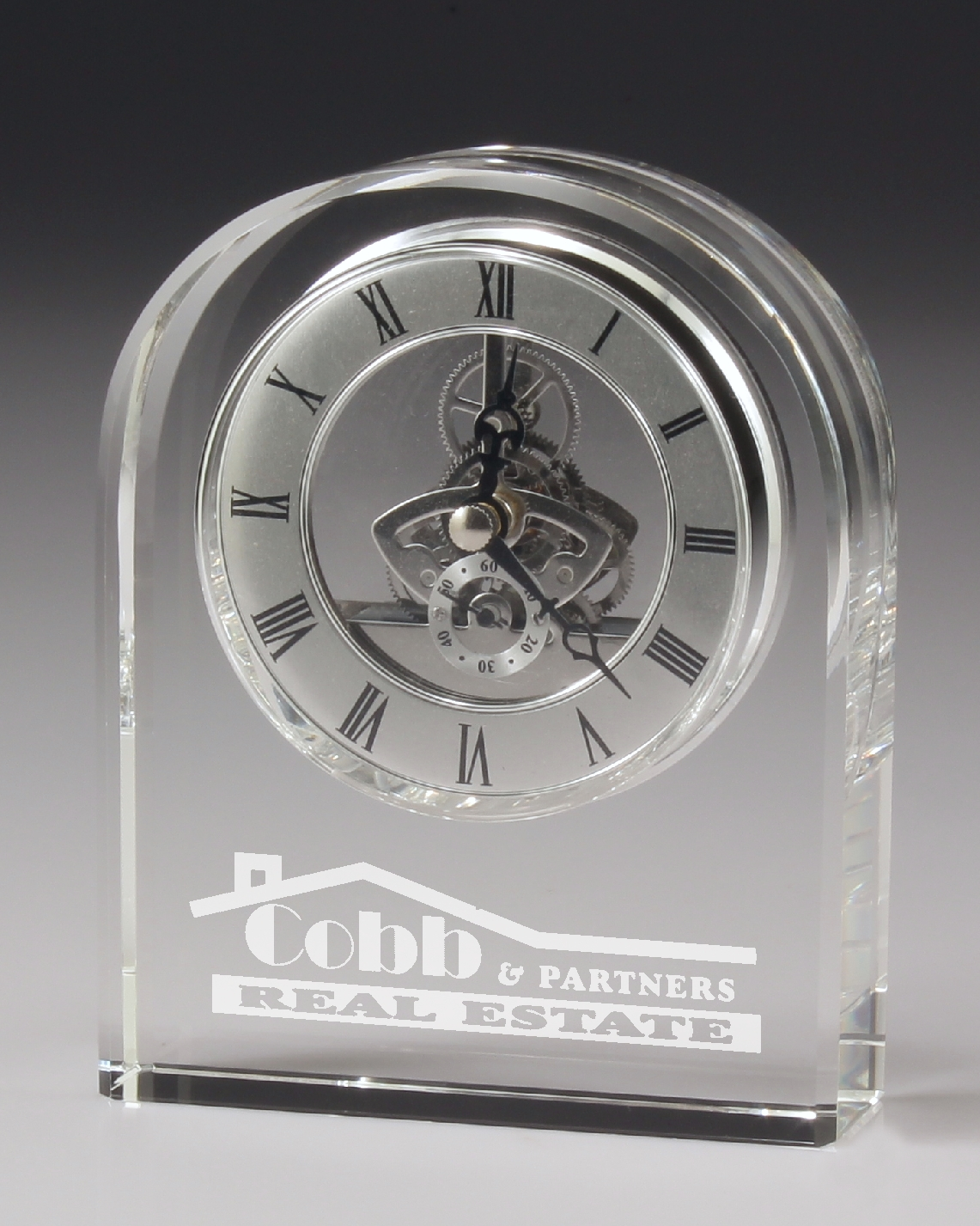 Crystal Clock with Chrome
