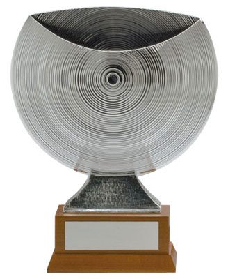 Siver Finish Textured Trophy Cup