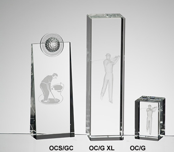 Optical Crystal Golf Trophies